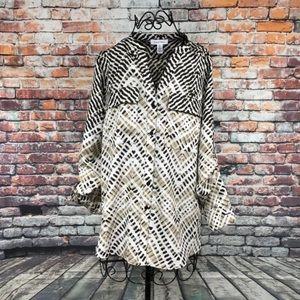 Calvin Klein Blouse Long Sleeve Women's Size Small